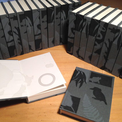 Custom sketchbooks for Carleton College South Pacific program