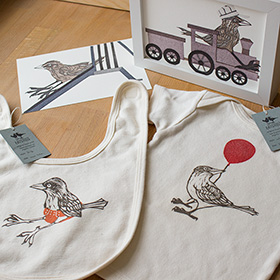 photo of new little bird prints and clothes