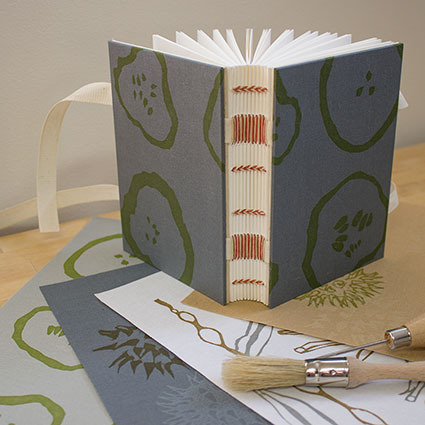 photo of ribbon book with cloth samples