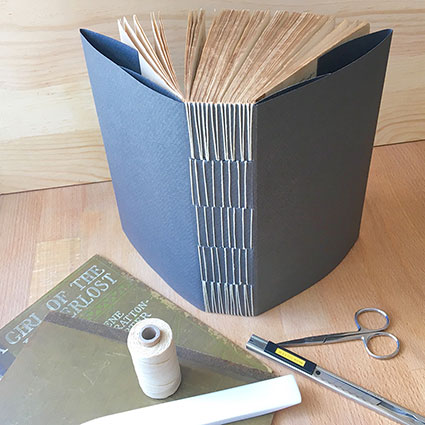 photo of softcover longstitch binding